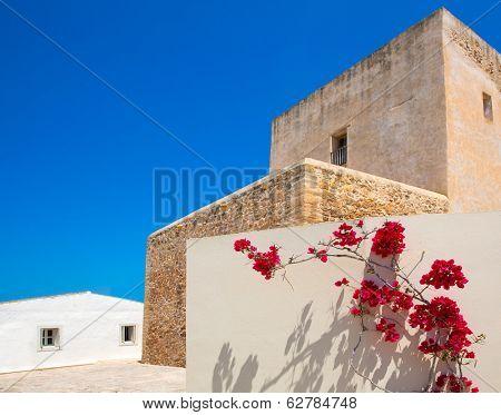 Formentera Sant Francesc San Francisco Javier church in Balearic Islands