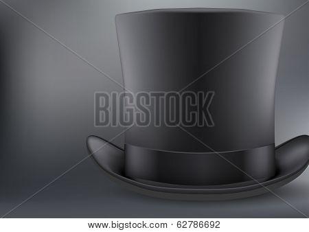 black gentleman hat cylinder background