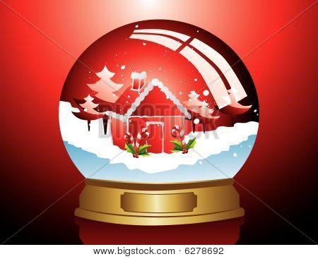 christmas glass ball vector