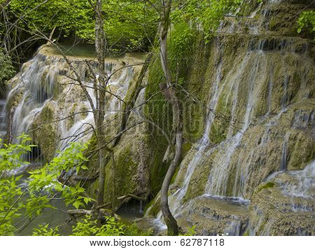 Water Etudes In Waterfall Near The Village Kruchuna