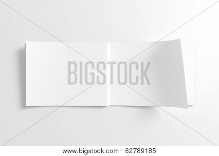 Blank Opened Catalog Isolated On White