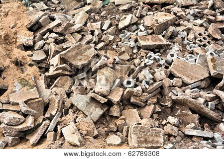 building rubble