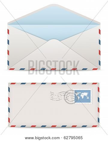 Postage envelopes. Vector