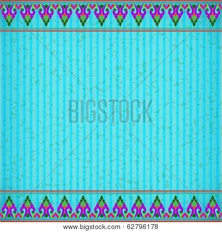 Thai Kra Jung Blue Card Board Texture