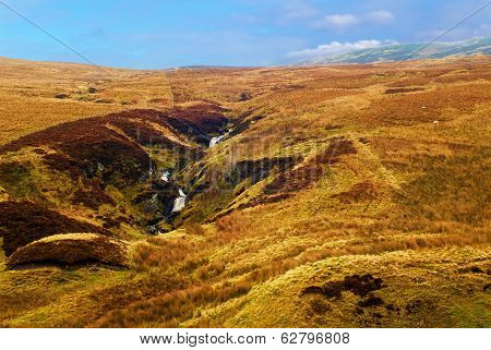 Hilly Landscape In Scotland