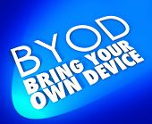 BYOD Acronym Bring Your Own Device Blue Word Background