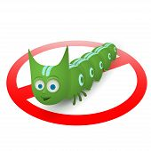 image of green caterpillar  - Green caterpillar pest runner is moving  too fast to stop it - JPG