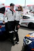 LOS ANGELES - APR 1:  Sam Witwer, Tricia Helfer at the Toyota Grand Prix of Long Beach Pro/Celebrity