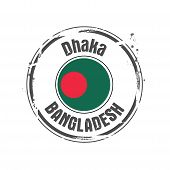 image of bangladesh  - stamp Dhaka - JPG