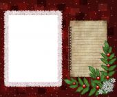 foto of christmas cards  - Greeting picture frame with Christmas elements - JPG