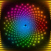 pic of psychodelic  - Abstract rainbow colors neon vector circle abstract background - JPG
