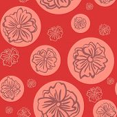 vector seamless with flowers