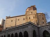 picture of xx  - Santo Stefano romanesque church on a hill overlooking the central Via XX Settembre in Genoa Italy - JPG