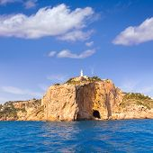 Javea Cabo de la Nao Lighthouse cape in Xabia Mediterranean Alicante at Spain