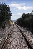 Abandoned railway line from Córdoba to Almorchón, municipality of Espiel, near Córdoba, Spain
