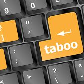 pic of taboo  - taboo button on computer keyboard pc key - JPG