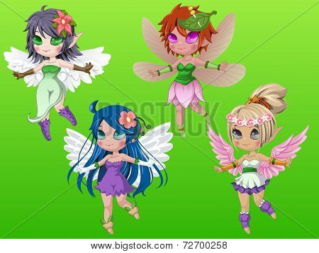 Pixie Girls With Wings
