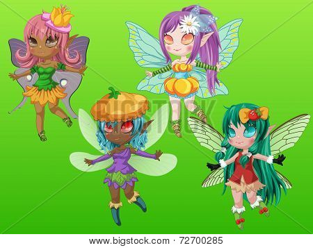 Fantasy Pixie Girls with Wings