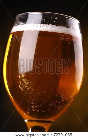 Beer Glass Closeup