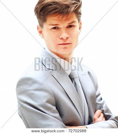 smiling handsome businessman.