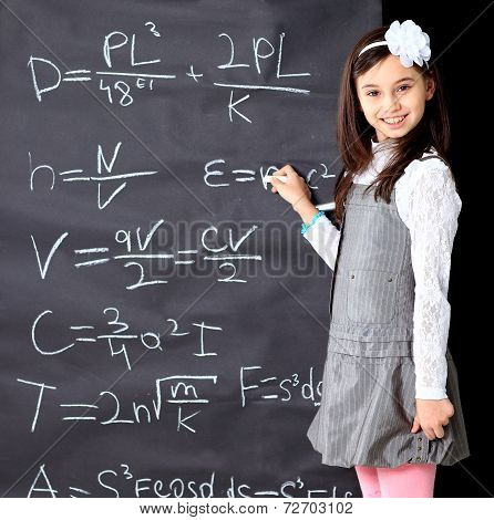 girl decides to mathematical equations