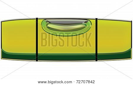Bubble Level Isolated. Vector Ilustration