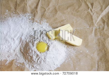 Eggs, Butter And Flour