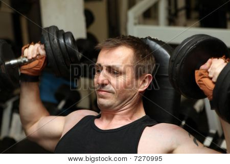Training Dumbbells Gym Pecks
