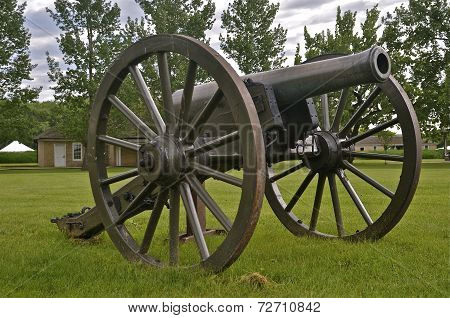 Cannon at military fort,