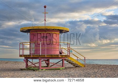 Life Guard Station On South Beach