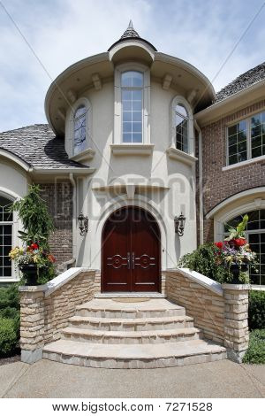 Entry Way With Stone Steps