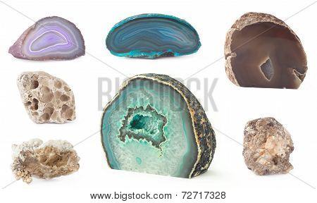 rock set isolated