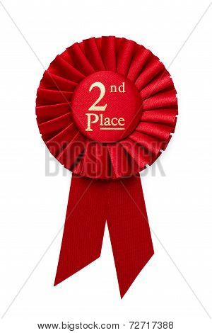 Red 2Nd Place Ribbon Rosette