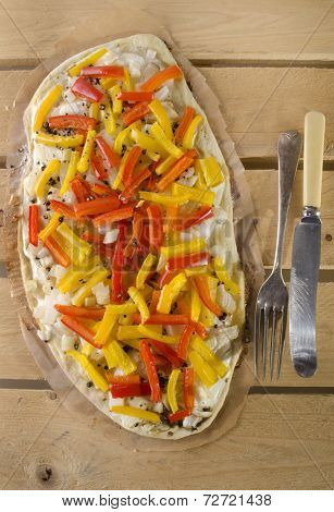 Tarte Flambee With Bell Pepper