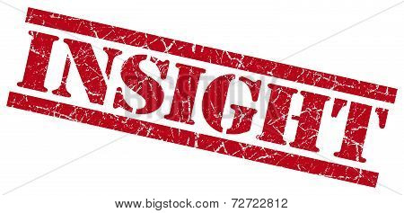 Insight Red Grungy Stamp On White Background