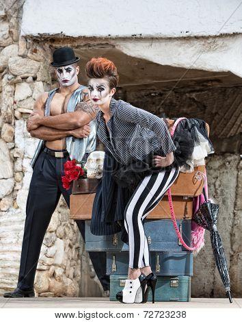 High Heels Circus Performer