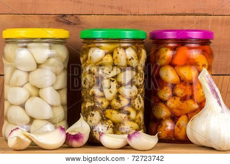 Pickled Garlic In The Pot