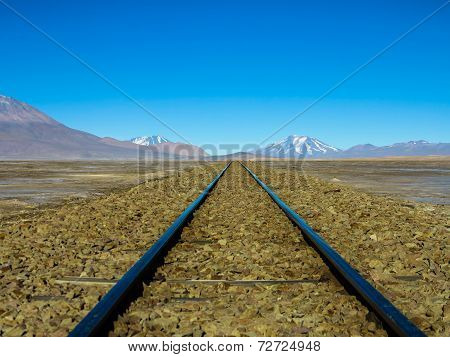 Railway tracks to nowhere