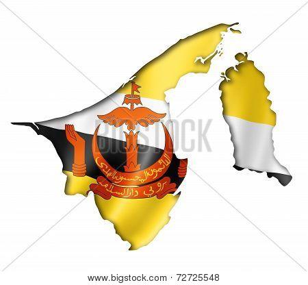 Bruneian Flag Map