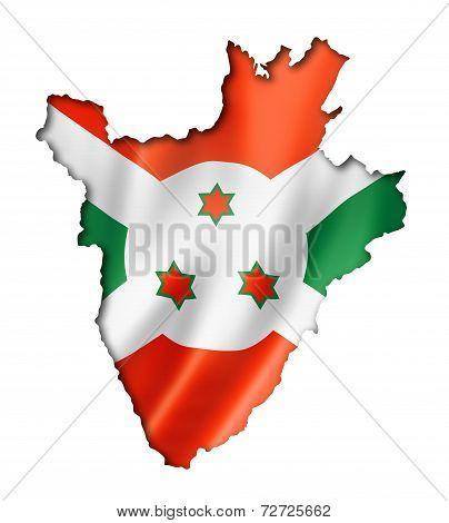 Burundian Flag Map