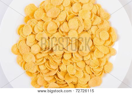 Dish of corn flakes