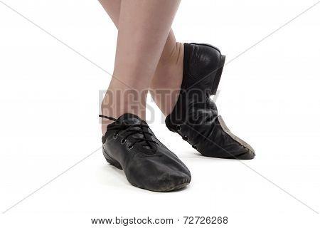 Photo of dancer girl's feet