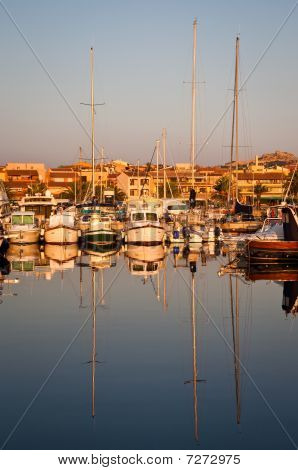 Yachts In Port At Dawn