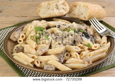 Chicken And Mushroom With Pasta