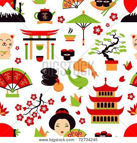 Japan seamless pattern