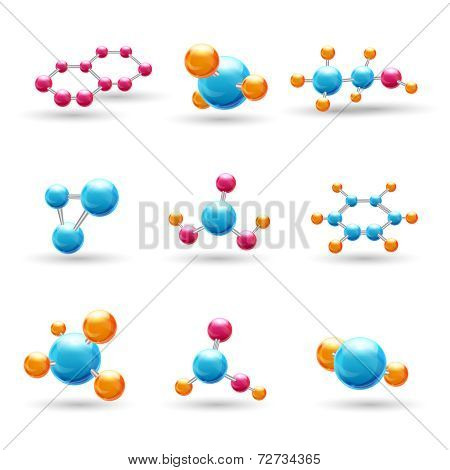 3D chemical molecules