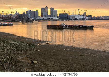 Canary Wharf And O2 Arena