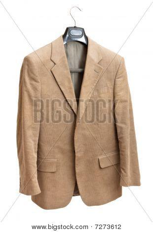 Beige Jacket On Hanger