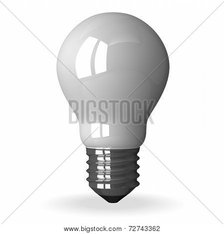 White Tungsten Light Bulb Standing
