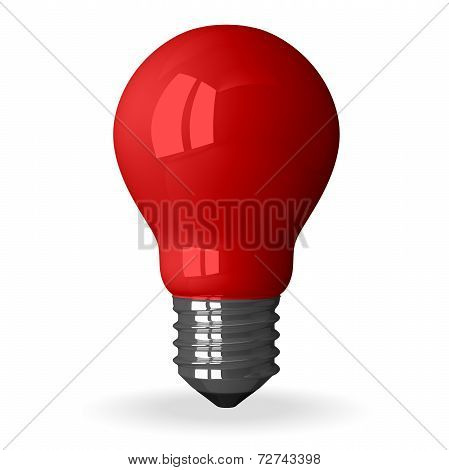 Red Tungsten Light Bulb Standing